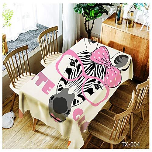 QWEASDZX Einfache Mode Tischdecke Polyester Tuch Wasserdicht Antifouling Rechteckige Tischdecke Geeignet für Innen-und Außenbereich Mehrzweck-Tischdecke 150x260cm -