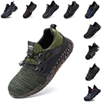 Safety Shoes Men Women Steel Toe Cap Trainers Work Sport Ladies Safe Sneakers Lightweight Breathable Indestructible…