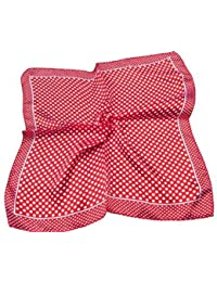 4 Colours: Small 50cm Square Polka Dots Spotted neck silk satin feel ladies fashion scarf - posted from London by Fat-Catz-copy-catz
