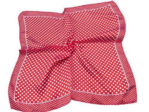 Multi-farbigen Damen-handtaschen (4-farbig: Klein 50cm Quadrat Gepunktet gepunktet nacken seide satin gefühl damen mode schal - veröffentlicht von London by Fat-catz-copy-catz)