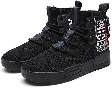 FUSHITON Scarpe Uomo Scarpe da Ginnastica Corsa Scarpe Alte Sneakers Scarpe Casual Sportive