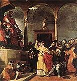 €50-€2000 Tableau Peint à la Main - Sainte Lucie Devant Le Juge 1532 Renaissance Lorenzo Lotto Peinture à l'huile en Toile -Taille04