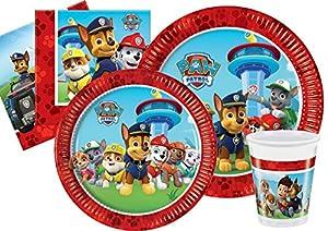 Ciao-Paw Patrol Kit Party Tabla, multicolor, L (24Personas), Y4625