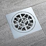 popowbe Messing Badezimmer deodorization Typ Duschrinne Küche Filter Sieb Sieb Ablauf Bodenablauf Kupfer Bezug 100mm x 100mm