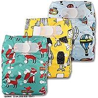 LittleBloom Bebé Pañales Lavables Pañal Reutilizable Insertos, Cierre: VELCRO, Set De 3