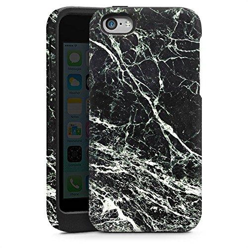 Apple iPhone 4 Housse Étui Silicone Coque Protection Look marbre noir Marbre noir Marbré Cas Tough brillant