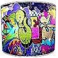 12 Inch Ceiling brick wall graffiti wall art lampshade 1 by Premier Lampshades