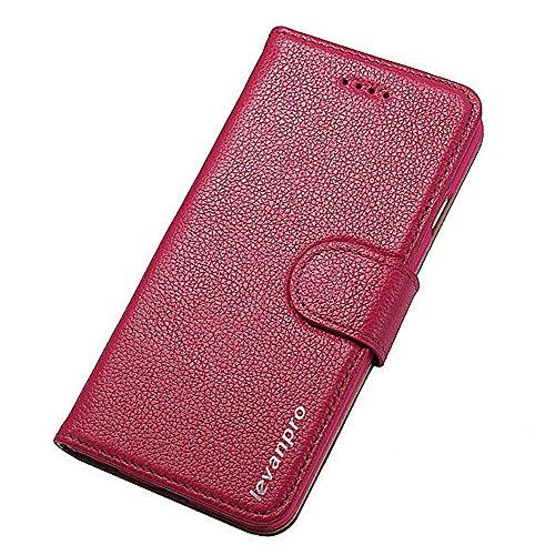 Levanpro Folio Portefeuille en Cuir Véritable Etui de Protection Languette Magnétique avec Wallet Ultra Slim Support et Rangements de Cartes pour iphone 6 / iphone 6s C