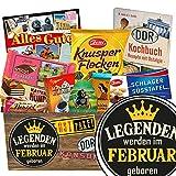 Legenden werden im Februar geboren | Schokolade Ossi Paket | Schokoladen Geschenkset M | Maulwurf, Viba, Zetti Süßtafel | Zetti Edel Bitter, Knusperflocken, Mokka Bohnen | Schokolade Präsentkorb Geburtstagsgeschenk für Papa