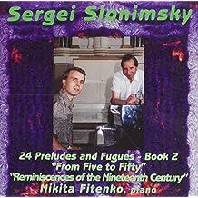 Sergei Slonimsky: Piano Music Volume 2 - Fitenko