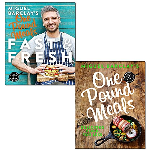 miguel barclay's fast & fresh one pound meals and one pound meals 2 books collection set by miguel barclay - delicious food for less