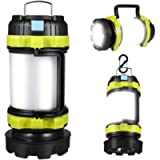 Rechargeable Led Torch, Multi-functional Camping Light, Camping Lantern with 6 Modes, Waterproof Outdoor Spotlight…
