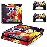 Ps4 Console Best Deals - Junsi Onepiece Body Decal Skin Sticker Autocollant for PS4 Playstation 4 Console+Controllers #0235