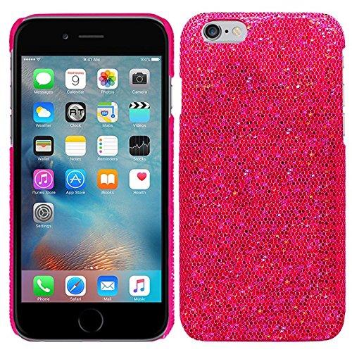 Apple iPhone 6S (4,7 Zoll) - Glitzer Schutzhülle Bling Hard Case Glitter Schutz Cover Etui Hülle Tasche in Schwarz - RT-Trading Pink