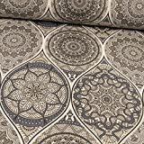 Stoffe Werning Beschichteter Baumwollstoff Mandalas grau