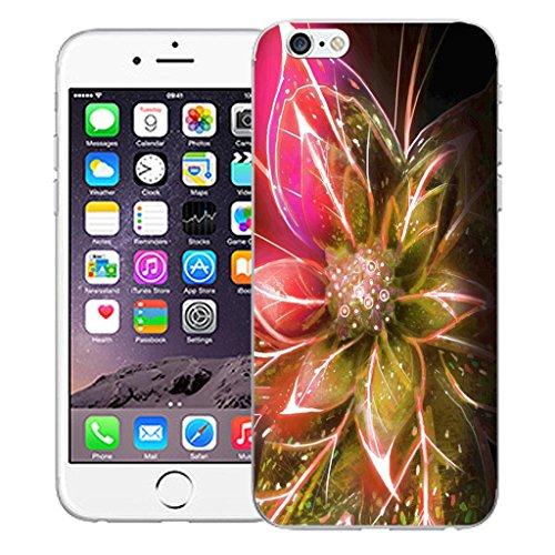 "Nouveau iPhone 6 4.7"" inch clip on Dur Coque couverture case cover Pare-chocs - Rose skull vine Motif avec Stylet pink funky flowers"