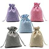 CozofLuv Süßigkeiten Geschenktüte  25 Stücke Säckchen Hochzeit Taufe Wihnachten für Lavendel Süßigkeiten Geschenke Geschenkbeutel Zum befüllen Schmuckbeutel Klein (5 Farbe)
