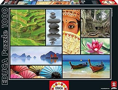 Puzzles Educa - Puzzle Colores De Asia, 1000 piezas (16294)