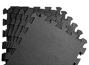 Schutzmatten Set von BeMaxx Fitness – 18 Puzzlematten | Bodenschutzmatten |...