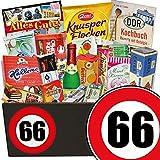 66. Geburtstag | DDR Geschenkbox Süßigkeiten | Geschenke zum 66ten Geburtstag