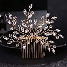 fxmimior novia boda Vintage Flor de cristal cabello peine cabeza desgaste  pelo adornos mujer niña 507b4f4f5de8