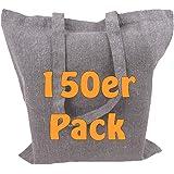 Cottonbagjoe Recyclingtaschen aus recycelter Baumwolle   38x42 cm   Öko - Baumwolltaschen   robust, mit dickem Stoff und lang
