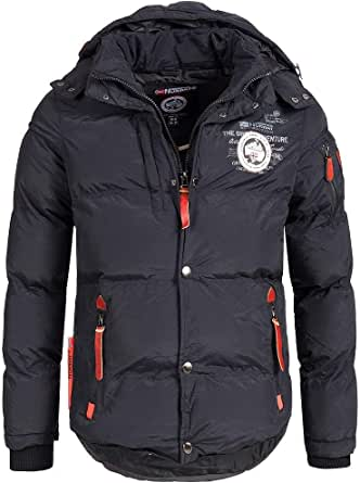 Geographical Norway Verveine Men's Winter Quilted Jacket with Hood
