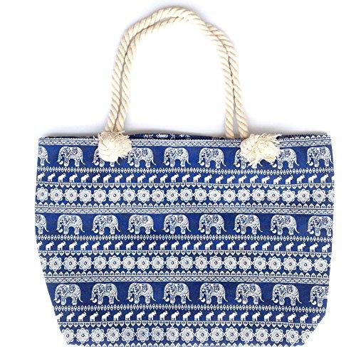 Bolsa playa mujer con asa de cuerda (HC Enterprise - 5016)
