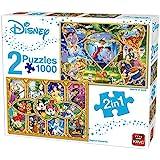 King- Disney Puzzle 2 en 1 1000 pièces Cœurs d'or et Magie du Film, 55920