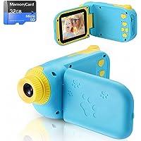 Appareil Photo pour Enfants Jouet pour Enfants Cadeau pour Enfants Enregistreur Vidéo Antichoc Écran HD 2.4 Pouces 1080P…
