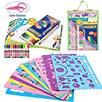 WloveTravel Stencils Drawing Set for Kids Ehance Children