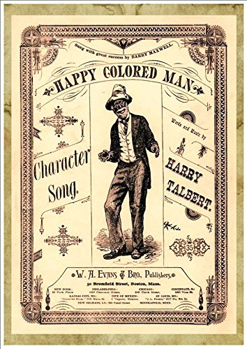 WONDERFUL A4 GLOSSY ART PRINT - 'HAPPY COLORED MAN' - CIRCA 1883