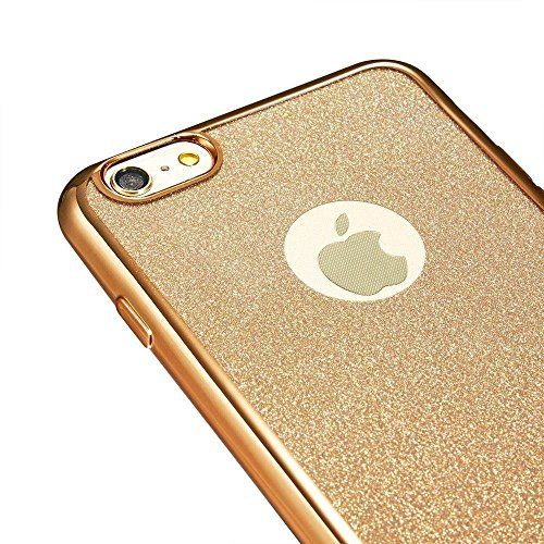 iPhone 6S Plus Hülle Silikon,iPhone 6 Plus Hülle Glitzer,iPhone 6S Plus Rosa Gold Mirror TPU Bumper Case Soft Silikon Gel Schutzhülle Hülle für iPhone 6 Plus 5.5 Zoll,EMAXELERS iPhone 6S Plus weiche S D TPU 42