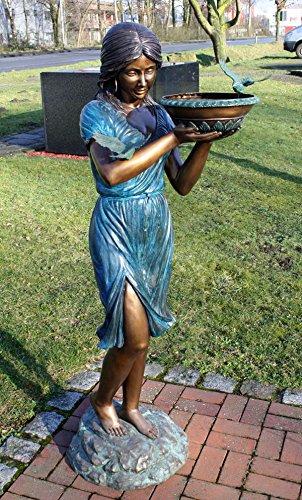 Bronze Frau mit Schale