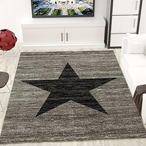 jugendzimmer-teppich-design-sternmuster-meliert-in-schwarz-grau-oko-tex-zertifiziert-masse60-cm-x-11