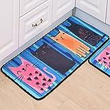 WJS Fußmatte Küche Fußmatte Badezimmer Wc Anti-Rutsch-Teppich Schlafzimmer Wohnzimmer Schöne Teppich (Farbe : D, größe : 60x90cm)