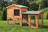Miweba Hasenstall My Animal MH-03 Doppelstockhaus mit Garten Hasenvilla Kaninchenkäfig Hasenkäfig Kaninchenstall 2 Ebenen