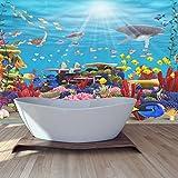 azutura Blaues Korallenriff Wandbild Unter Dem Meer Foto-Tapete Badezimmer Haus Dekor Erhältlich in 8 Größen Riesig Digital