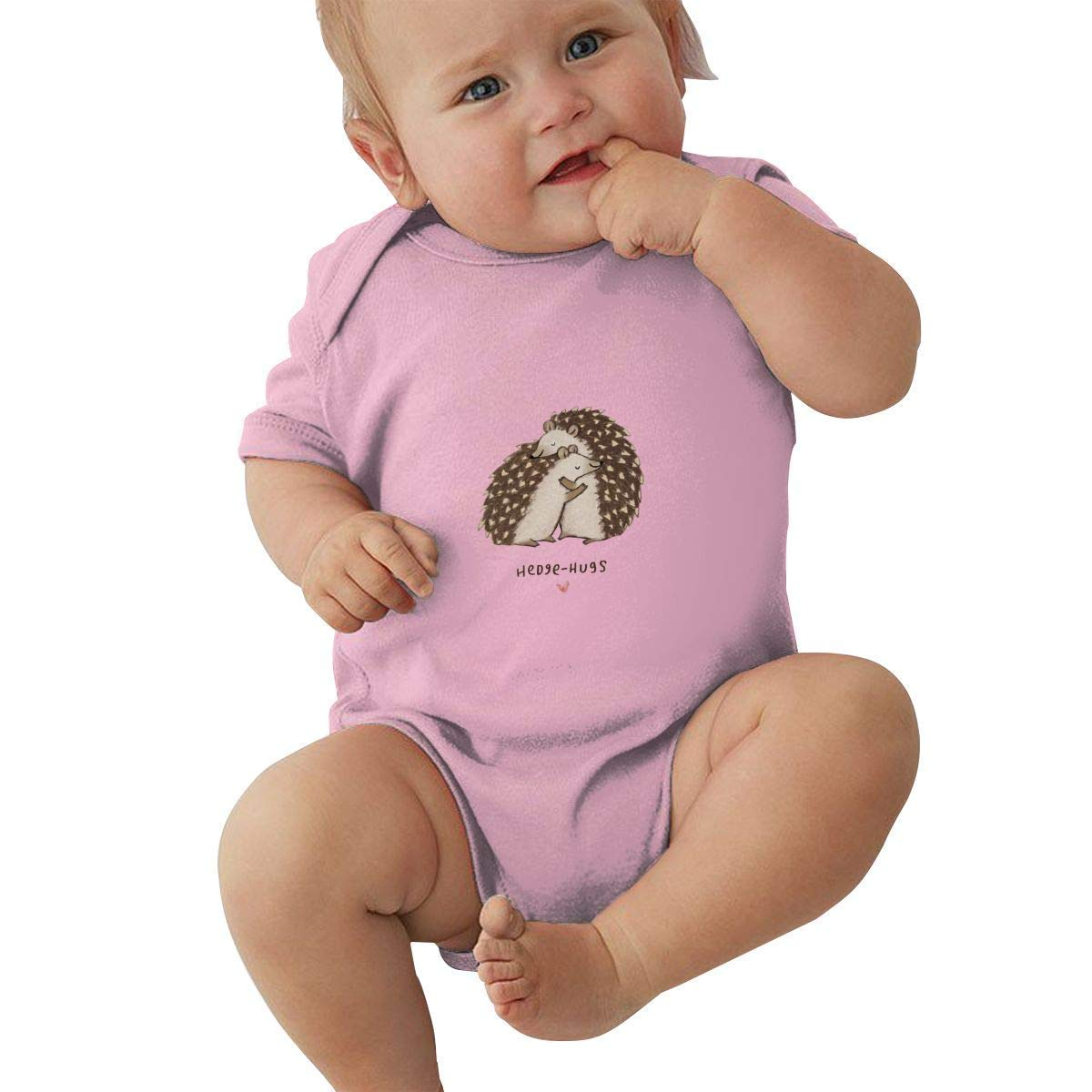 UyGFYytg Hedgehog Pattern Baby Newborn Crawling Suit Sleeveless Onesie Romper Jumpsuit Black