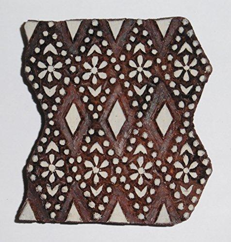Klassische Quadratische Form indischen Hand geschnitzte Block Drucken Holz Stempel - Klassische Hand Geschnitzte Holz