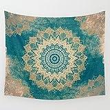 Goldbeing indischer Wandteppich Wandbehang Mandala Tuch Wandtuch Gobelin Tapestry Goa Indien Hippie-/ Boho Stil als Dekotuch /Tagesdecke indisch orientalisch psychedelic (203 x 153cm, Style 9)