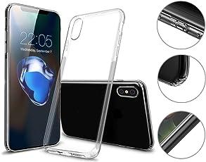 Hetcher Tech Premium Schutzhülle iPhone X iPhone XS Transparent Durchsichtig - Viele Vorteile - Silikon Hülle für Apple iPhone X/XS - Cover Case Bumper mit Staubschutz