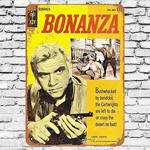 Henson 1964 Bonanza Comic 2 Traditional Vintage Tin Sign Logo 12 * 8 Advertising Eye-Catching Wall Decoration