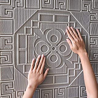 iHENGH 3D Brick Wall Sticker Self-Adhesive Foam Wallpaper Panels Room Decal