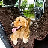Jasnyfall Steppendes Plüsch-Auto-Kissen für Haustier-Wasserdichte Matte mit Sicherheits-Mund (Farbe: Braun)