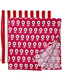 Toby Tiger Baby-Girls Dot Flower Muslin Set of 2 Scarf