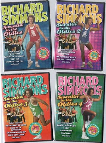 Richard Simmons: Sweatin' to the Oldies Collection (Volumes 1-4) - Sweatin Simmons Richard