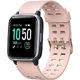 YAMAY Smartwatch Orologio Fitness Uomo Donna Impermeabile IP68 Smart Watch Cardiofrequenzimetro da Polso Contapassi Smartband
