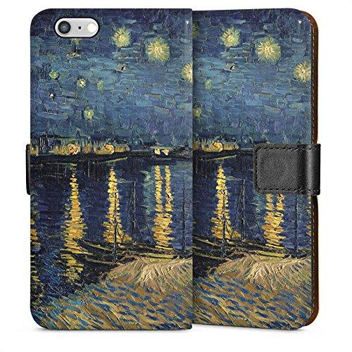 Apple iPhone 5 Housse Étui Silicone Coque Protection Vincent van Gogh Tableau Art Sideflip Sac