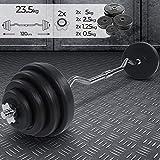 Physionics Barra Curl Z con Pesas 23.5 kg Bíceps...